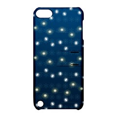 Christmas Light Blue Apple Ipod Touch 5 Hardshell Case With Stand