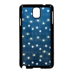 Christmas Light Blue Samsung Galaxy Note 3 Neo Hardshell Case (black)