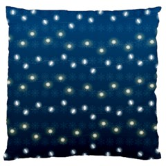 Christmas Light Blue Standard Flano Cushion Case (two Sides)