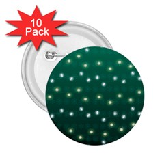 Christmas Light Green 2 25  Buttons (10 Pack)