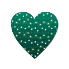 Christmas Light Green Heart Magnet