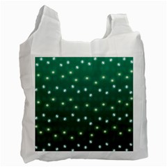 Christmas Light Green Recycle Bag (one Side)