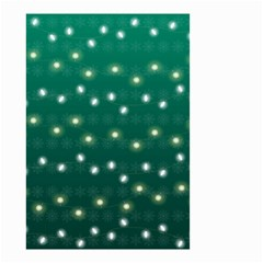 Christmas Light Green Small Garden Flag (two Sides)