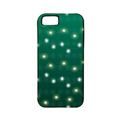 Christmas Light Green Apple Iphone 5 Classic Hardshell Case (pc+silicone)