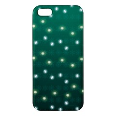Christmas Light Green Apple Iphone 5 Premium Hardshell Case
