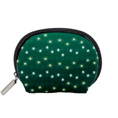 Christmas Light Green Accessory Pouches (small)