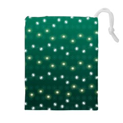 Christmas Light Green Drawstring Pouches (extra Large)