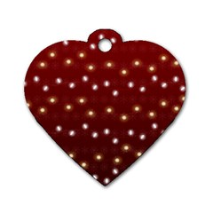 Christmas Light Red Dog Tag Heart (one Side)