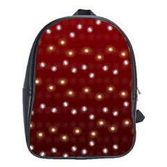 Christmas Light Red School Bag (large)