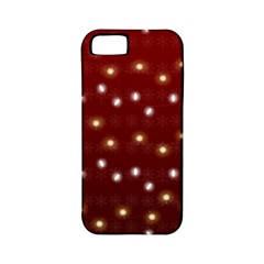Christmas Light Red Apple Iphone 5 Classic Hardshell Case (pc+silicone)