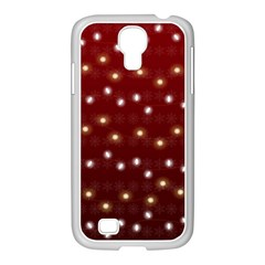 Christmas Light Red Samsung Galaxy S4 I9500/ I9505 Case (white)