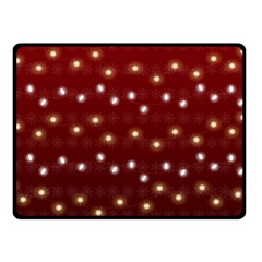 Christmas Light Red Double Sided Fleece Blanket (small)