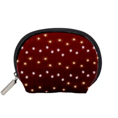 Christmas Light Red Accessory Pouches (small)