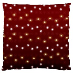 Christmas Light Red Large Flano Cushion Case (two Sides)