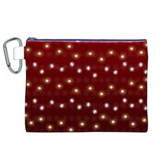 Christmas Light Red Canvas Cosmetic Bag (xl)