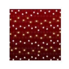 Christmas Light Red Small Satin Scarf (square)