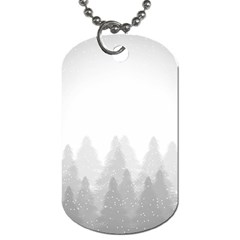 Winter Land Light Dog Tag (two Sides)