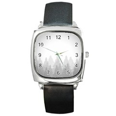 Winter Land Light Square Metal Watch
