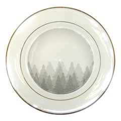 Winter Land Light Porcelain Plates
