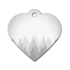 Winter Land Light Dog Tag Heart (two Sides)