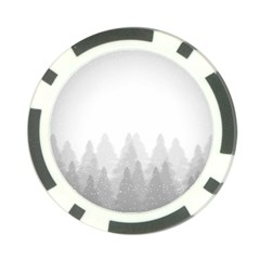 Winter Land Light Poker Chip Card Guard