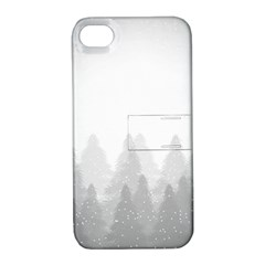 Winter Land Light Apple Iphone 4/4s Hardshell Case With Stand