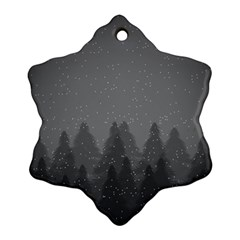 Winter Land Dark Snowflake Ornament (two Sides)