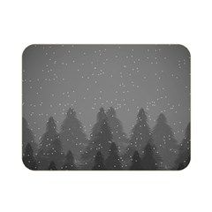 Winter Land Dark Double Sided Flano Blanket (mini)