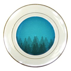Winter Land Blue Porcelain Plates