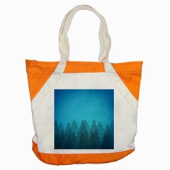 Winter Land Blue Accent Tote Bag