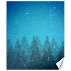 Winter Land Blue Canvas 20  X 24