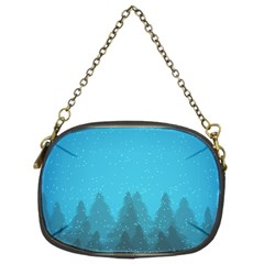 Winter Land Blue Chain Purses (two Sides)