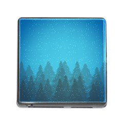 Winter Land Blue Memory Card Reader (square)