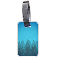 Winter Land Blue Luggage Tags (one Side)