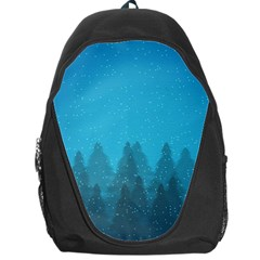 Winter Land Blue Backpack Bag