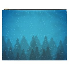 Winter Land Blue Cosmetic Bag (xxxl)