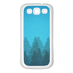 Winter Land Blue Samsung Galaxy S3 Back Case (white)