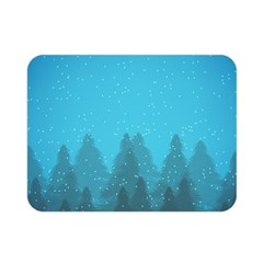 Winter Land Blue Double Sided Flano Blanket (mini)