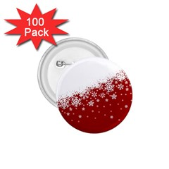 Xmas Snow 01 1 75  Buttons (100 Pack)
