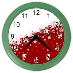 Xmas Snow 01 Color Wall Clocks