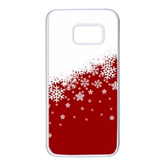 Xmas Snow 01 Samsung Galaxy S7 White Seamless Case