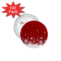 Xmas Snow 02 1 75  Buttons (100 Pack)