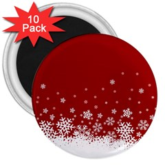Xmas Snow 02 3  Magnets (10 Pack)