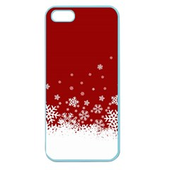Xmas Snow 02 Apple Seamless Iphone 5 Case (color)