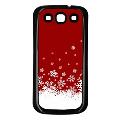 Xmas Snow 02 Samsung Galaxy S3 Back Case (black)