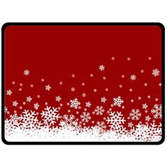 Xmas Snow 02 Double Sided Fleece Blanket (large)