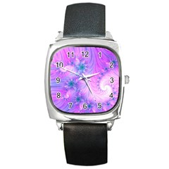 Delicate Square Metal Watch