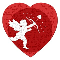 Cupid Bow Love Valentine Angel Jigsaw Puzzle (heart)