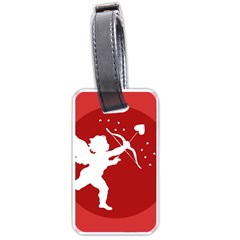 Cupid Bow Love Valentine Angel Luggage Tags (one Side)