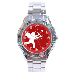 Cupid Bow Love Valentine Angel Stainless Steel Analogue Watch